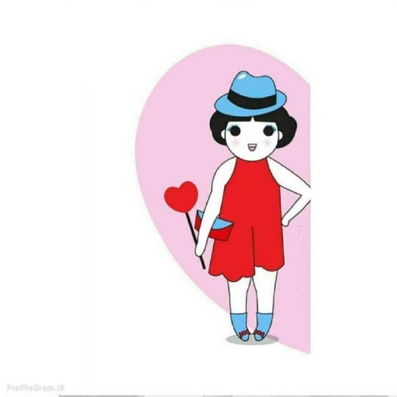 عکس پروفایل ست عاشقانه کارتونی دختر