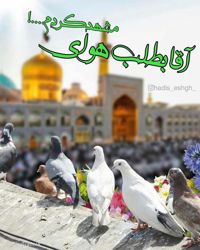 عکس پروفایل عکس نوشته آقا بطلب هوای مشهد کردم امام رضا