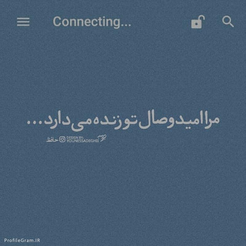 عکس پروفایل حافظ مرا امید وصال تو زنده میدارد