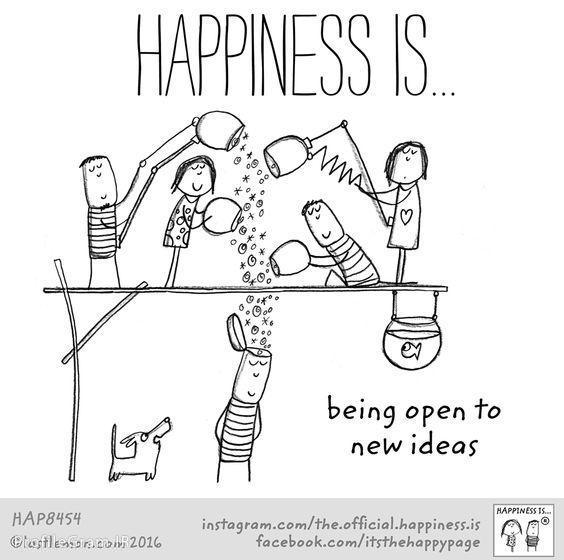 عکس پروفایل انگلیسی Happiness is being open to new ideas