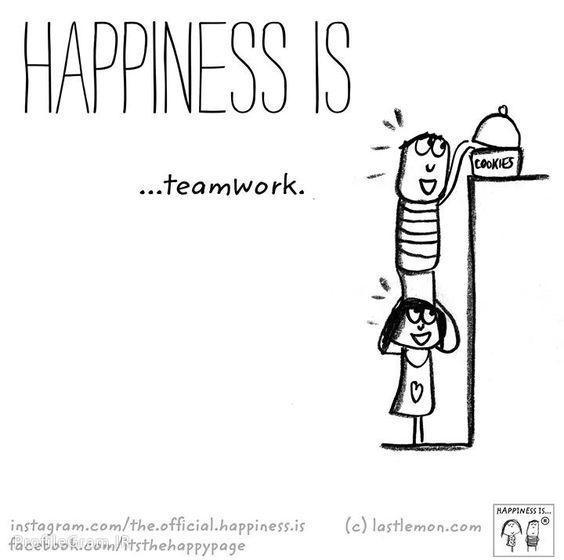 عکس پروفایل انگلیسی Happiness is teamwork