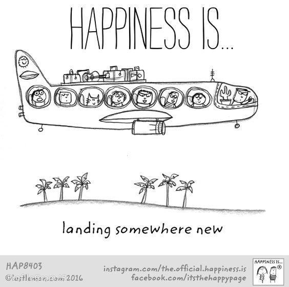 عکس پروفایل انگلیسی Happiness is landing somewhere new