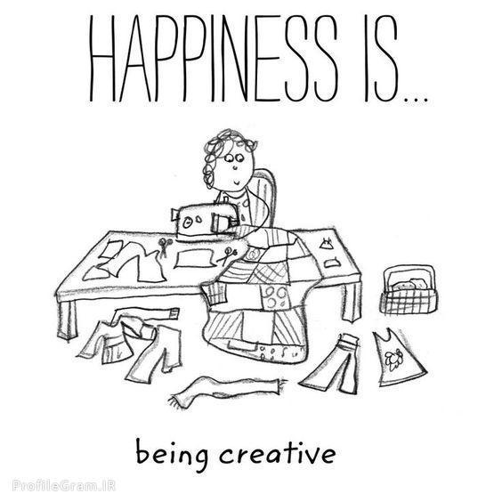 عکس پروفایل انگلیسی Happiness is being creative
