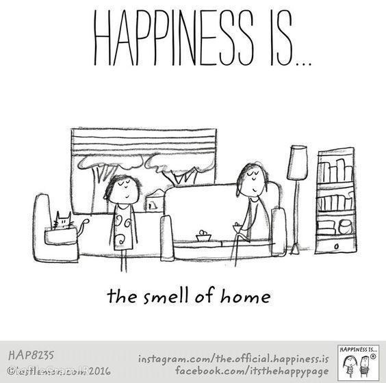 عکس پروفایل انگلیسی Happiness is the smell of home