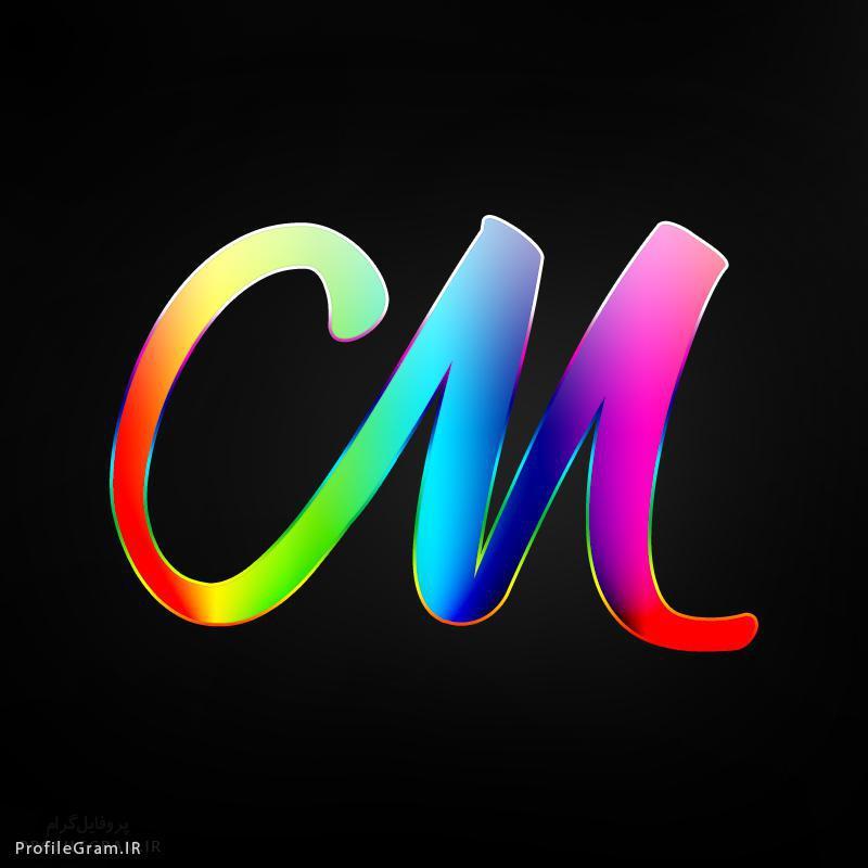 عکس پروفایل حرف M انگلیسی رنگارنگ پروفایل گرام