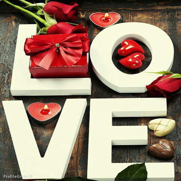 عکس پروفایل ولنتاینی گل و شمع و کادوی عاشقانه