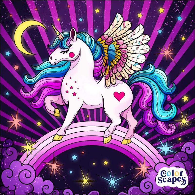 عکس پروفایل یونی کورن اسب تک شاخ کارتونی