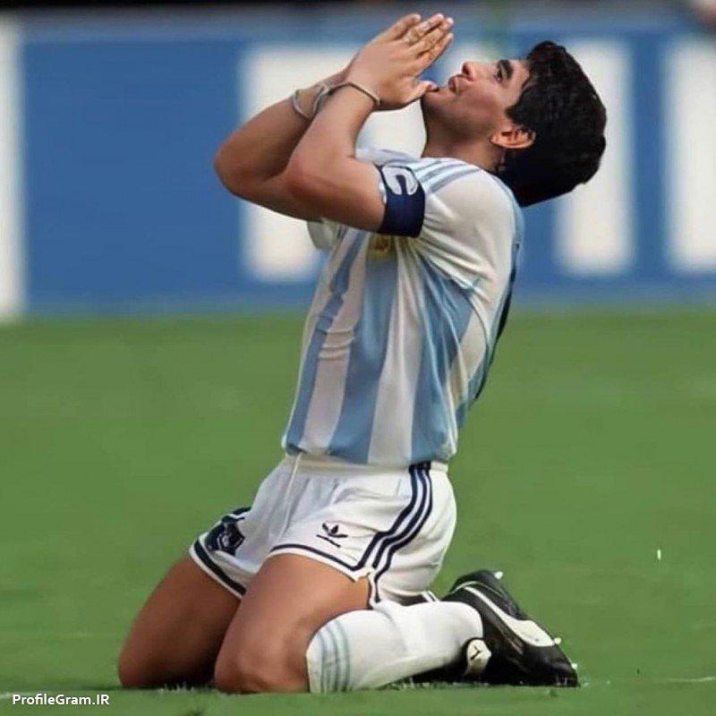 عکس پروفایل کاپیتان مارادونا اسطوره فوتبال