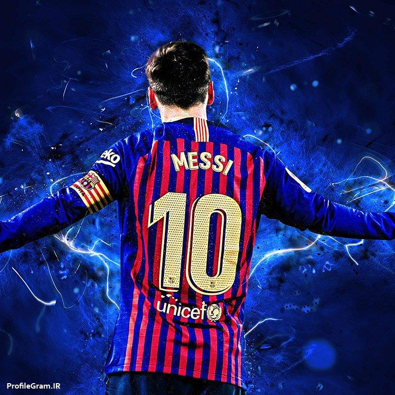 عکس پروفایل لیونل مسی با لباس بارسلونا شماره 10