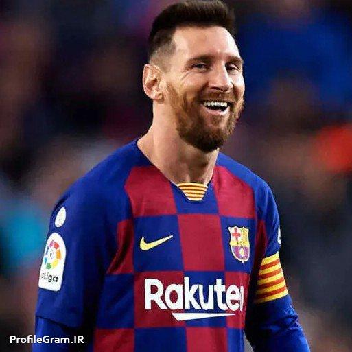 عکس پروفایل لیونل مسی با لبخند در بارسلون