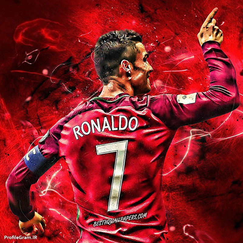 عکس پروفایل کریستین رونالدو با لباس 7 پرتغال