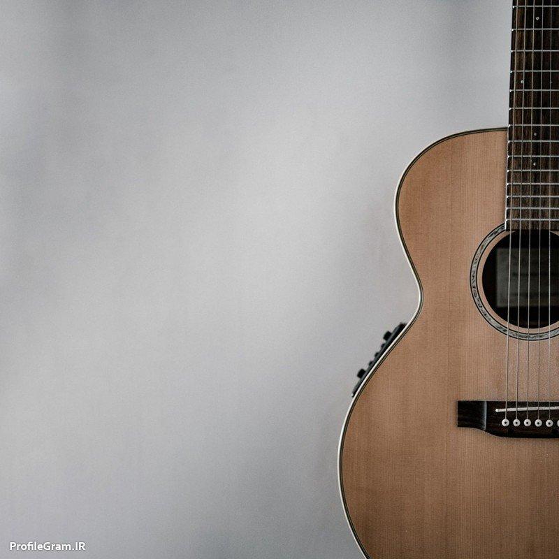 عکس پروفایل نیمرخ گیتار هنری و زیبا رمانتیک