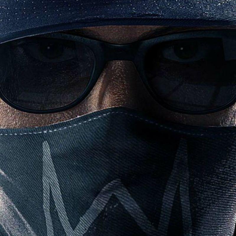 عکس پروفایل پسرانه خفن عینکی با نقاب