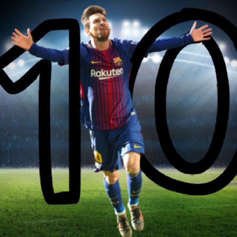 عکس پروفایل خوشحالی مسی شماره 10 بارسا
