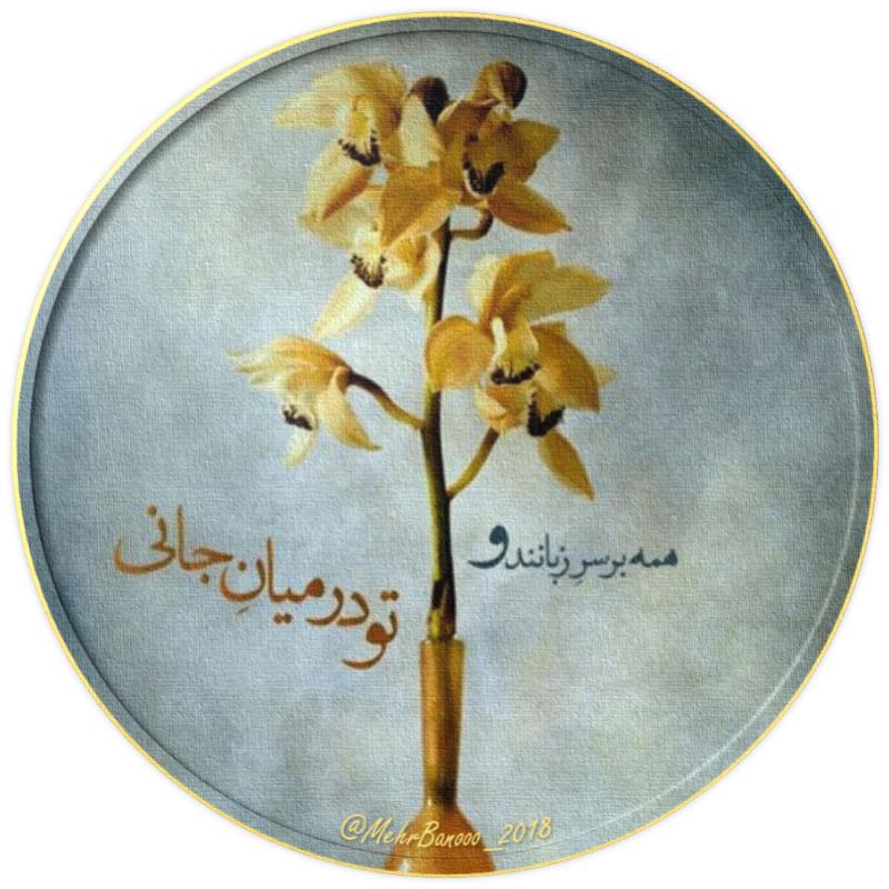 عکس پروفایل شعر مولانا همه بر سر زبانند و تو در میان جانی