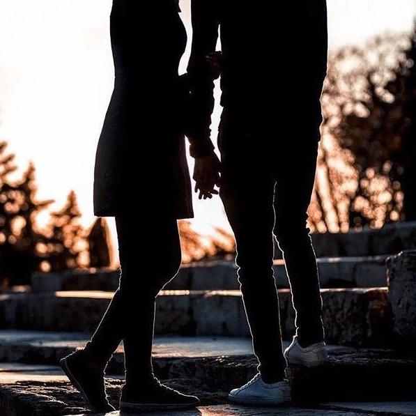 عکس پروفایل سایه دختر پسر عاشقانه در غروب