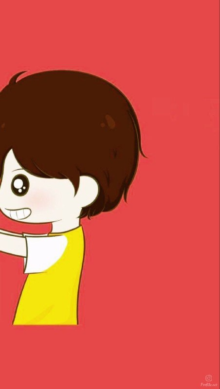 عکس پروفایل ست کارتونی عاشقانه زرد قرمز برای پسر