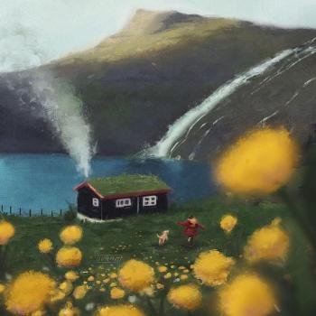 عکس پروفایل خانه ای رویایی کنار آبشار