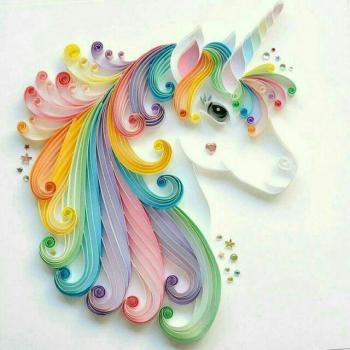 عکس پروفایل اسب تک شاخ رنگی