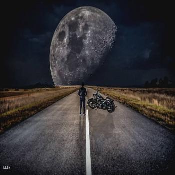 عکس پروفایل ماه زیبای شب