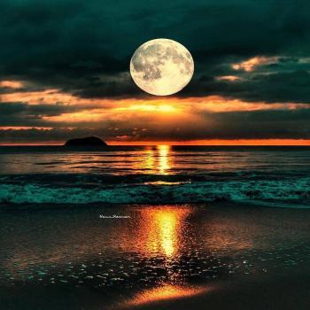 عکس پروفایل دریای شب زیبا