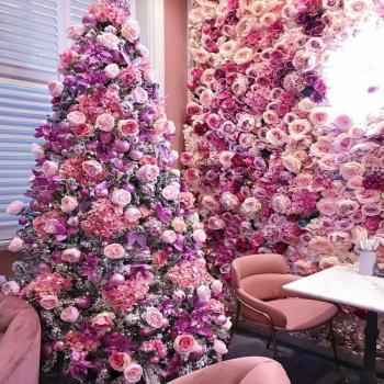 عکس پروفایل درخت گل صورتی زیبا