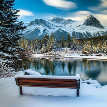 عکس پروفایل منظره کوهستان برفی ناب