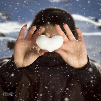 عکس پروفایل قلب برفی زیبا
