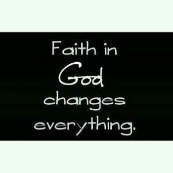 عکس پروفایل ایمان به خدا همه چیز را تغییر میدهد