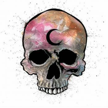 عکس پروفایل اسکلت فانتزی رنگی