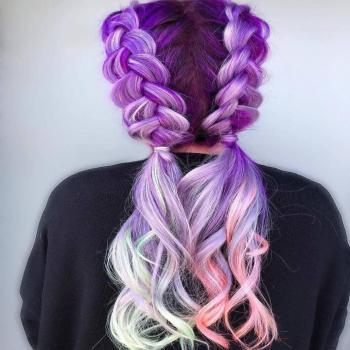 عکس پروفایل موی رنگی فانتزی