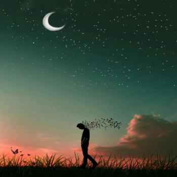 عکس پروفایل ماه شب پر ستاره