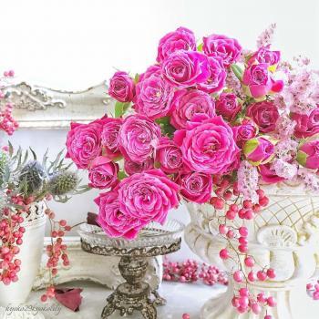 عکس پروفایل گل های صورتی لاکچری