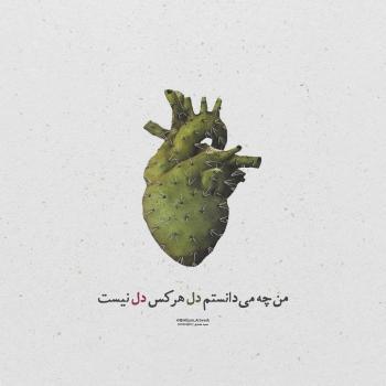عکس پروفایل من چه میدانستم دل هرکس دل نیست