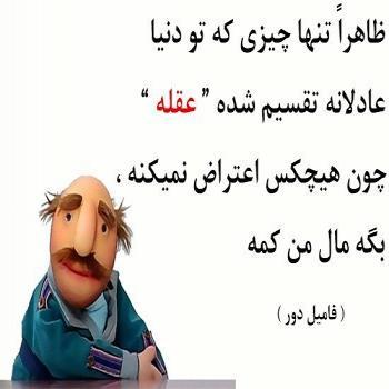 عکس پروفایل تقسیم عادلانه عقل از نظر فامیل دور