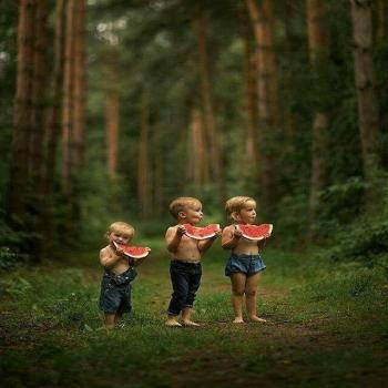 عکس پروفایل کودکان در جنگل