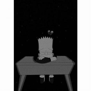 عکس پروفایل کارتونی غمگین