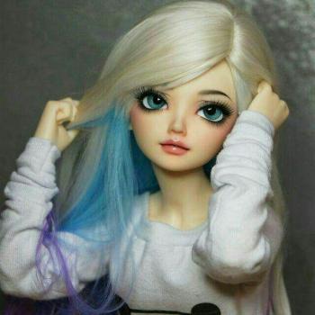 عکس پروفایل فانتزی مو رنگی