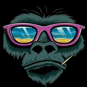 عکس پروفایل میمون نقاشی شده