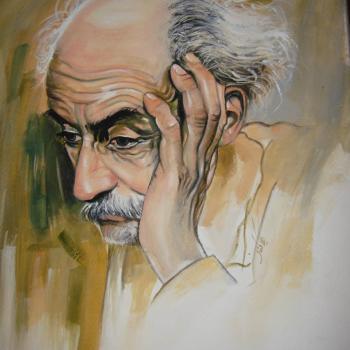 عکس پروفایل نقاشی چهره نیما یوشیج