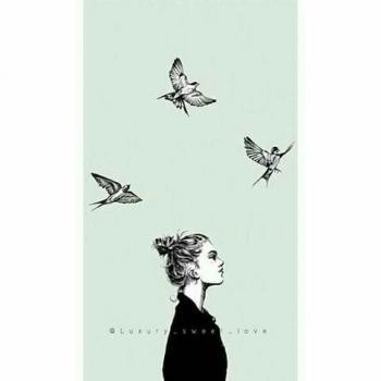 عکس پروفایل ست عاشقانه نقاشی دختر