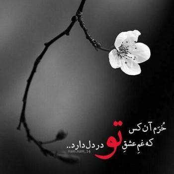 عکس پروفایل خرم آن کس که غم عشق تو در دل دارد
