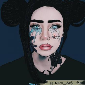 عکس پروفایل نقاشی دخترونه دپ