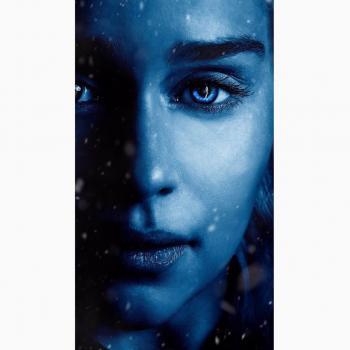 عکس پروفایل ست زن با زمینه آبی