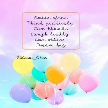 عکس پروفایل اغلب لبخند بزن مثبت فکر کن سپاسگذار باش