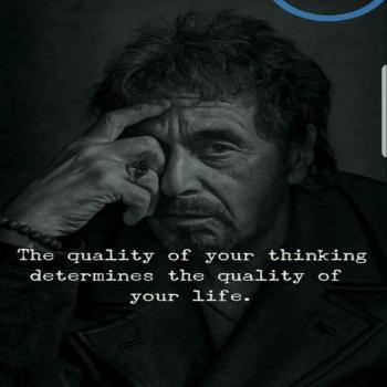 عکس پروفایل کیفیت فکر هات ،کیفیت زندگیت رو معلوم میکنه