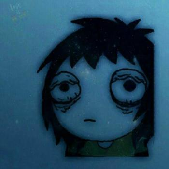 عکس پروفایل نقاشی دختر گریون