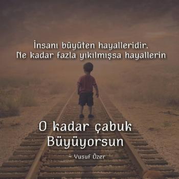 عکس پروفایل ترکیه ای چیزی که انسان رو بزرگ میکنه رویاهاشه