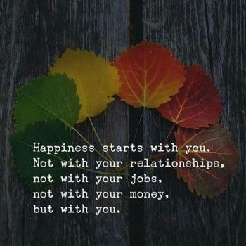 عکس پروفایل انگلیسی خوشبختی از درون خودت به وجود میادنه رابطه ا