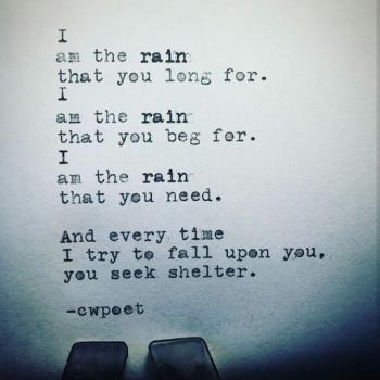 عکس پروفایل انگلیسی من بارانی هستم که منتظرش بودی من بارانی هستم که